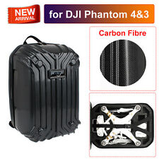 Portable Hard Shell Carrying Case Backpack Bag Carbon Fiber for DJI Phantom 4 3