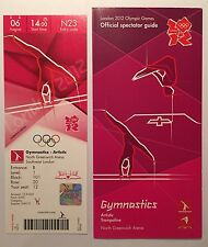 LONDON 2012 TICKET ARTISTIC GYMNASTICS 6 AUG 1400 £450 & SPECTATOR GUIDE *MINT*