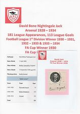 DAVID JACK ARSENAL 1928-1934 EXTREMELY RARE ORIGINAL SIGNED CUTTING & MAG PIC