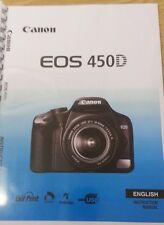 CANON  EOS 450D FULL USER MANUAL GUIDE INSTRUCTIONS  PRINTED A5 196 PAGES