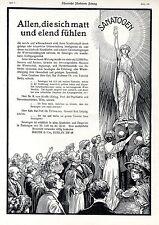 SANATOGEN Bauer & Cie Berlin Künstlerwerbung-Poster für Österreich c.1911