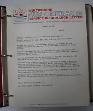 Cessna Original Multi- Engine Service Information Letters 19881-1982