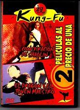 KUNG FU - CONSPIRACION DE SHAOLIN - EL DRAGON Y EL MAESTRO -  DVD  8436037050985