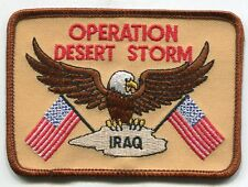 Rare US Army Operation Desert Storm Eagle Iraq Iron On Patch