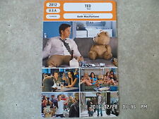 CARTE FICHE CINEMA 2012 TED Mark Wahlberg Mila Kunis Joel McHale