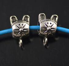 20 Bails Cute Connectors Holder Clasp Fit 4mm Leather Cord  European Bracelet