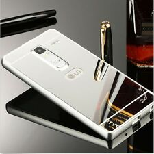 Metal Luxury Aluminum Frame Bumper Case + PC Mirror Back Cover Skin For LG Phone