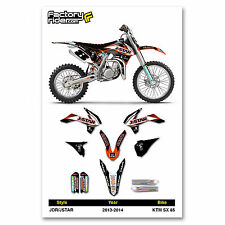 2013-2014 KTM SX 85 JDR/JSTAR Dirt Bike Graphics kit Motocross Graphics Decal