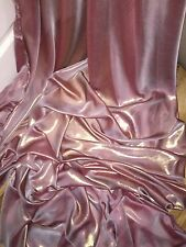 "1 MTR QUALITY DUSTY PINK/GOLD SHIMMER CHIFFON FABRIC...58"" WIDE £2.49"