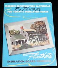 FLINTKOTE INSULATION BOARD PRODUCTS HOME IMPROVEMENT ADVERTISING BROCHURE 1941