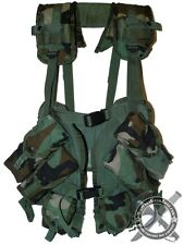 Genuine US Issue Woodland Enhanced Tactical Load Bearing Vest LBV Ammo Pouches