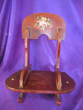 """Wooden Doll Rocking Chair 6 """" Tall Doll Furniture"""