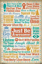 JUST BE AWESOME - INSPIRATIONAL QUOTE POSTER 22x34 - LIST 13540