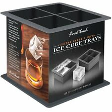 Final Touch EXTRA LARGE ICE CUBE TRAYS - Square JUMBO Chill CUBE MOULDS 2 trays