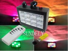 New Remote Control MP3 Play RGB LED Strobe Light Dj Stage Flash Disco Party KTV