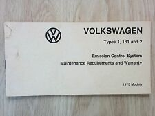 1975 Volkswagen Types 1, 181 and 2 Emission Control System, VW Bus Beetle Thing
