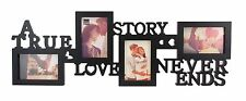 KNL Store A True Love Story Never Ends 4 Picture Collage Photo Frame 4X6 Inch