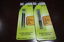 6 refills F-Refill for Zebra F-301 F301 F-402 F-701 Stainless Steel Pen Black
