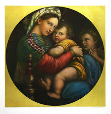 Raffael Madonna della Sedia gross Poster Kunstdruck Bild 90x80cm - Portofrei