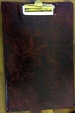 A4 in pelle come appunti Fold-over riempimento Clip Board