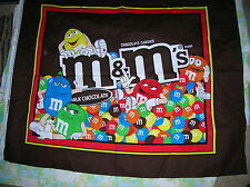 Quilt Top Panel-M & M -100% Cotton Fabric-36x45-Brown background-Colorful