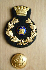 Danish and Swedish Fire Brigade Cap Badges (apx.6 x 4.5 cm & 2.5 x 2.5 cm)