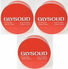 3 X GLYSOLID FOR THE SKIN /HAND, FEET & BODY CREAM /SKIN SOFTENING CREAM 250ml