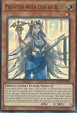 3X YU-GI-OH CARD: PRIESTESS WITH EYES OF BLUE - SUPER RARE - SHVI-EN098