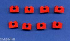 Lego--3700--Lochstein--1 x 2 -- 1 Loch-- Rot---8 Stück--