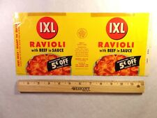 Label-IXL ravioli,IXL Foods,San Leandro,CA.original advertising=ProductsOverTime
