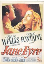"*Postcard--AD--""Jane Eyre"" w/Arson Wells/Joan Fontaine- (#62)"