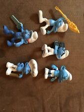 Set Of 5 Smurfs