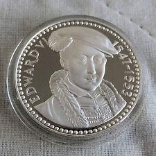 Edward VI 1537 - 1553 32mm caracteriza medalla de plata prueba