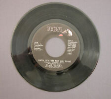 """SG 7"""" 45 rpm 1972 ELVIS PRESLEY - AN AMERICAN TRILOGY / UNTIL IT'S TIME FOR YOU"""