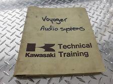 Kawasaki Voyager ZG1200 Audio Systems Operating Manual