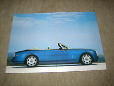 Rolls-royce phantom drophead coupé imagen, card Picture folleto single brochure
