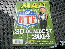 FEB 2015 MAD vintage magazine (UNREAD) - NFL - 2014 DUMBEST