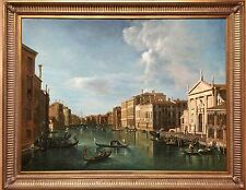 Large 20th Century Oil Painting On Canvas Grand canal Venice Unsigned Gilt Frame