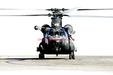 Original US Army Special Forces MH47 Chinook helicopter A4 photograph print