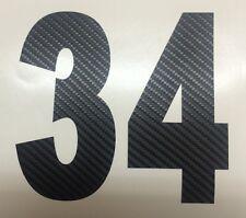 I tuoi Numero di partenza,Carbonio Adesivo Moto, Auto, Motocross, MX, Enduro