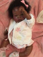 Reborn   Stunning Ethnic Baby Nines O Donil Sculpt With Human Afro Hair