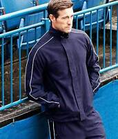 Adult Small FINDEN HALES Showerproof  Tracksuit Top NAVY BLUE 38inch Chest