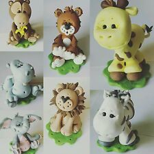 Cake Topper Jungle Animals Baby Shower or Birthday Choice of ONE Cake Topper