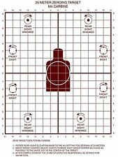 Lot of 20 Military 25 METER ZEROING Practice TARGET M16A2/AR 15 (M4 CARBINE)