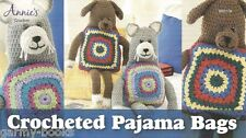 Crocheted Pajama Bags Cat Dog Crochet Instruction Pattern Annie's Attic NEW