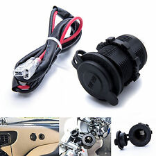 12V/24V Waterproof Power Motorcycle Boat Car Cigarette Lighter Socket Water Plug