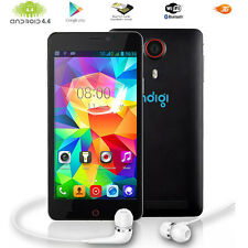 Indigi® v13 Black 5.5in Multi-Touch 3G Android 4.4 (Unlocked) Mobile Smartphone