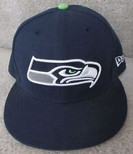 NFL Seattle Seahawks Fitted Hat Size 7 3/8 New Era 59Fifty Cap