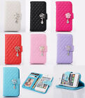 New Luxury Leather Wallet Flower Flip Stand Case Cover For iPhone 5 5S 4 4S HB#2