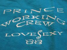 "RARE PRINCE ""Love Sexy"" Working CREW Concert Tour (XL) T-Shirt"